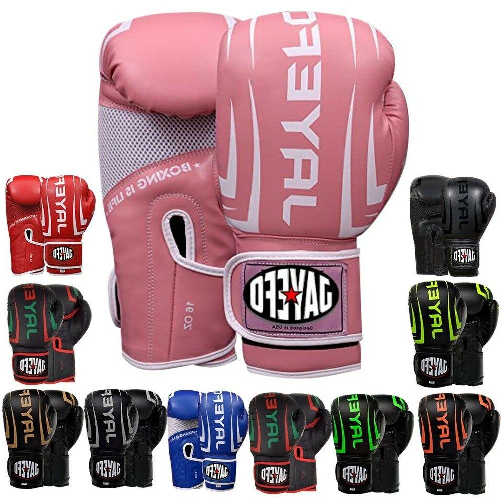 Leather Thai Training Sparring Gloves