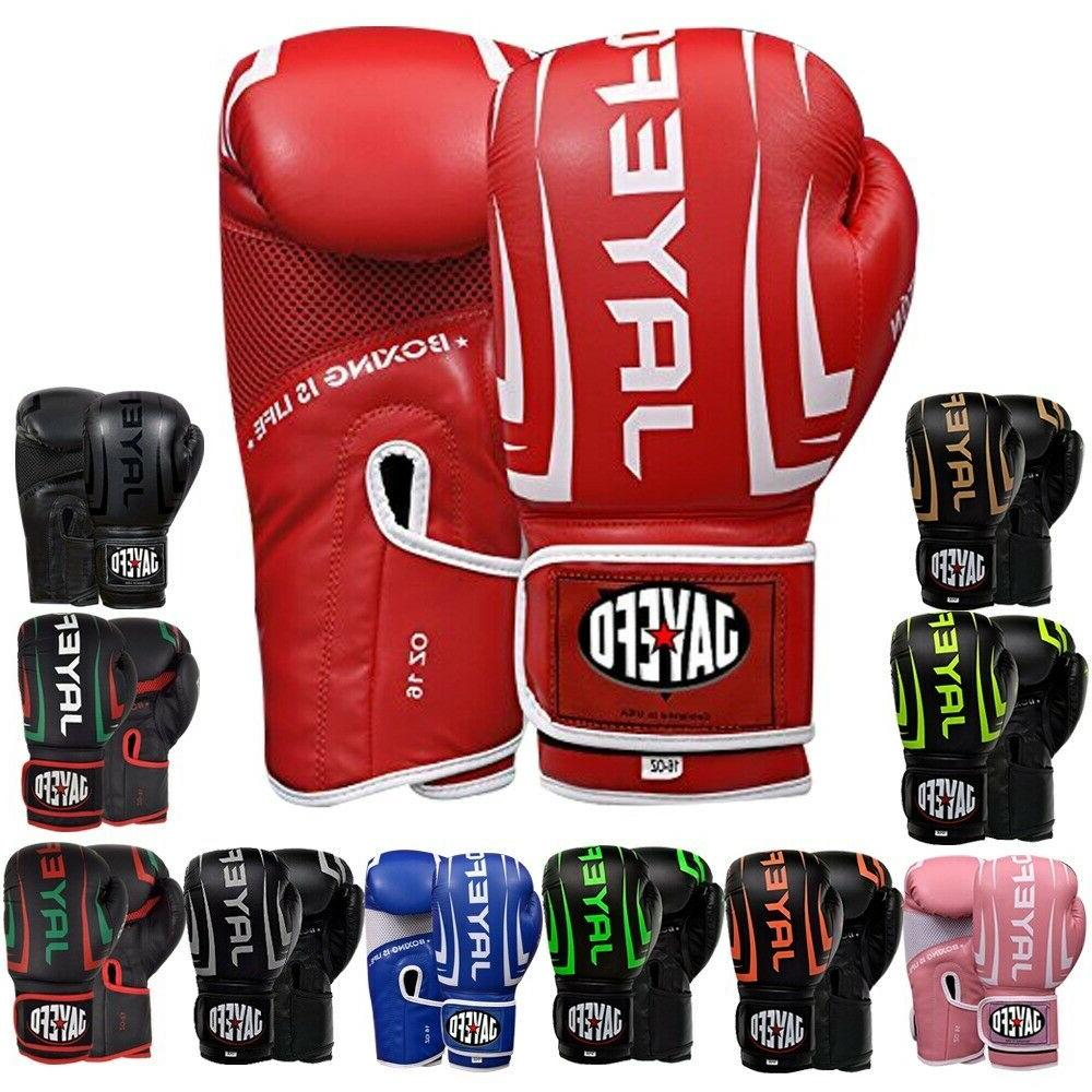 Leather Boxing Gloves Thai Sparring Gloves