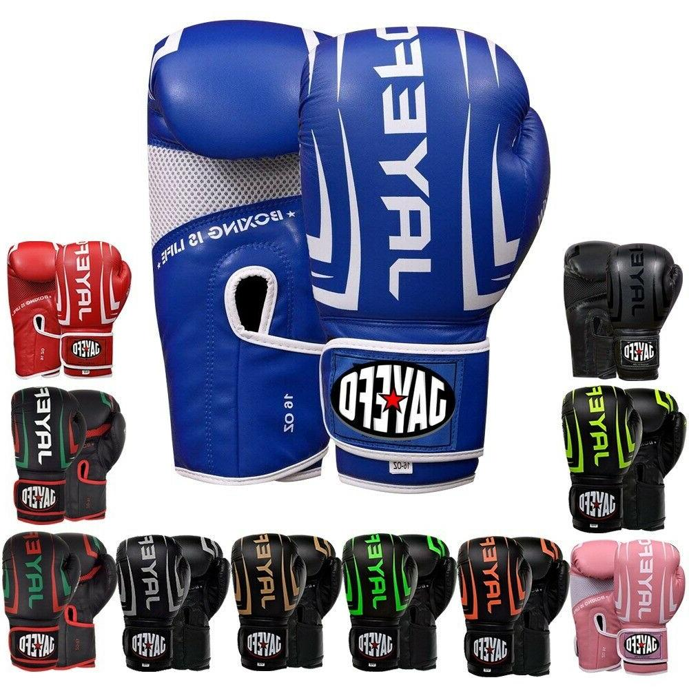 Leather Boxing Thai Sparring Gloves MMA jayefo