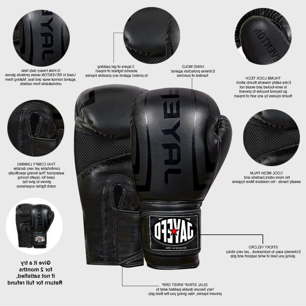 Leather Boxing Gloves Muay Thai Sparring MMA jayefo