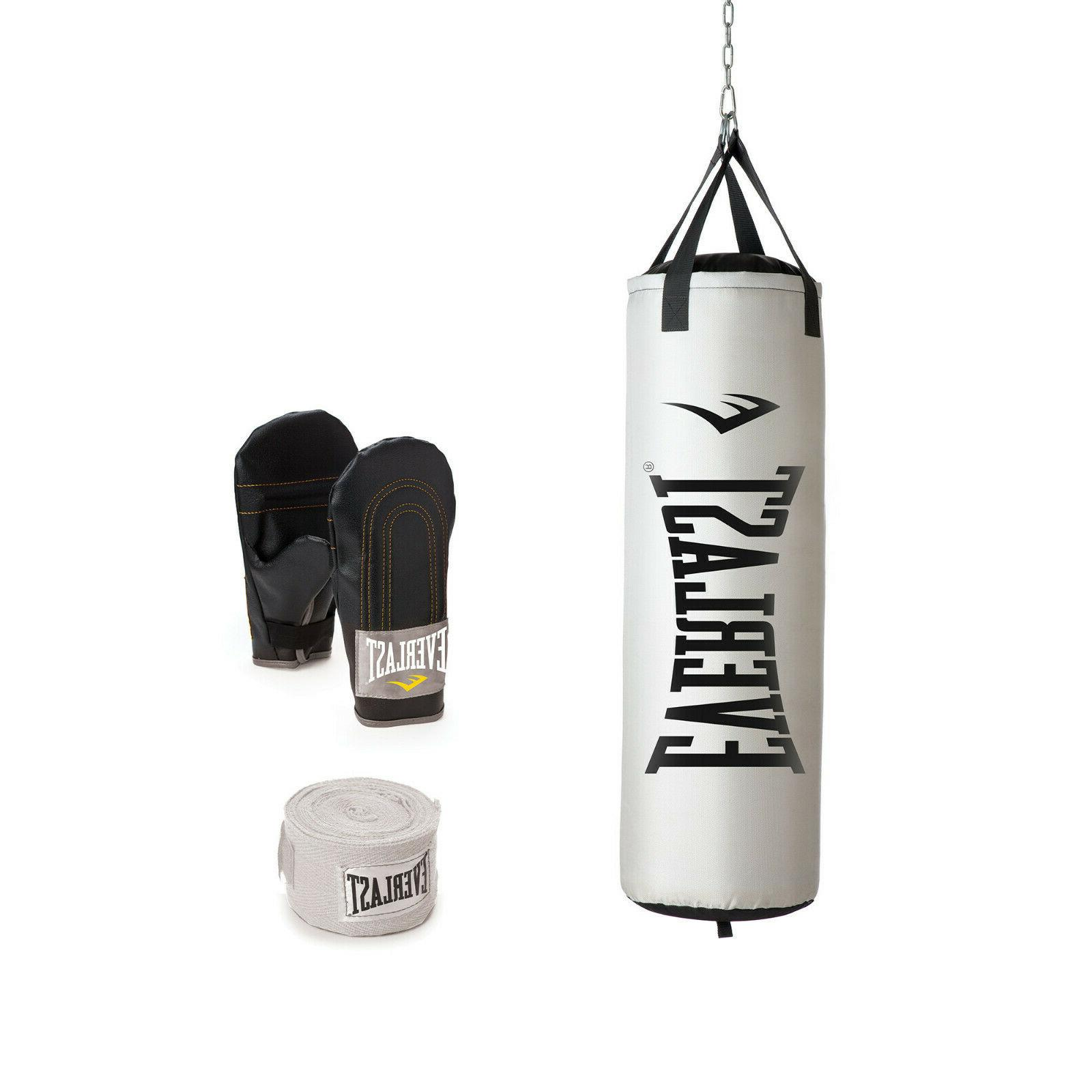NEW 100 lb Heavy with Stand Boxing Gloves Wraps