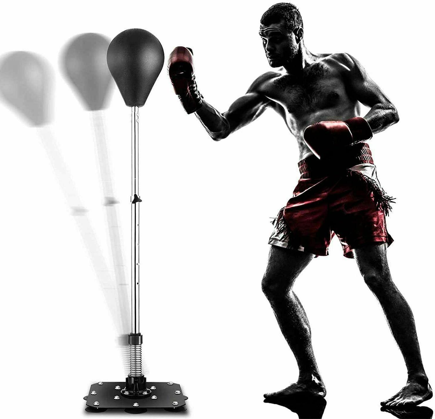 Reflex Bag Speed Punching Bag with Adjustable Height Free St