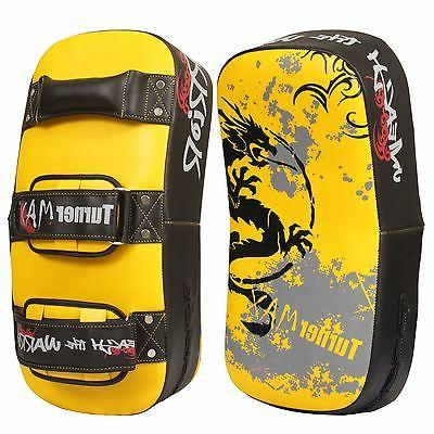 synthetic leather thai pad kick boxing mma
