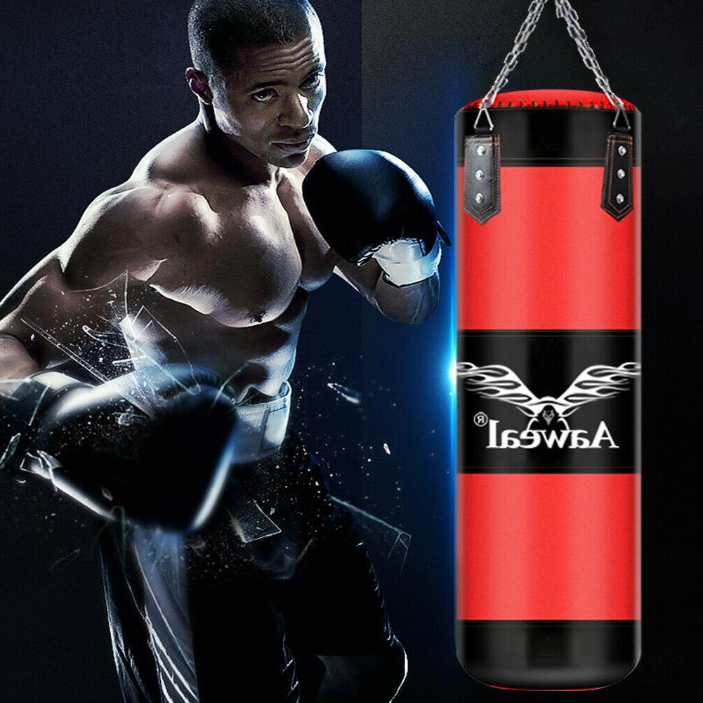 Heavy Boxing Punching Bag Training Gloves Workout w/Hook
