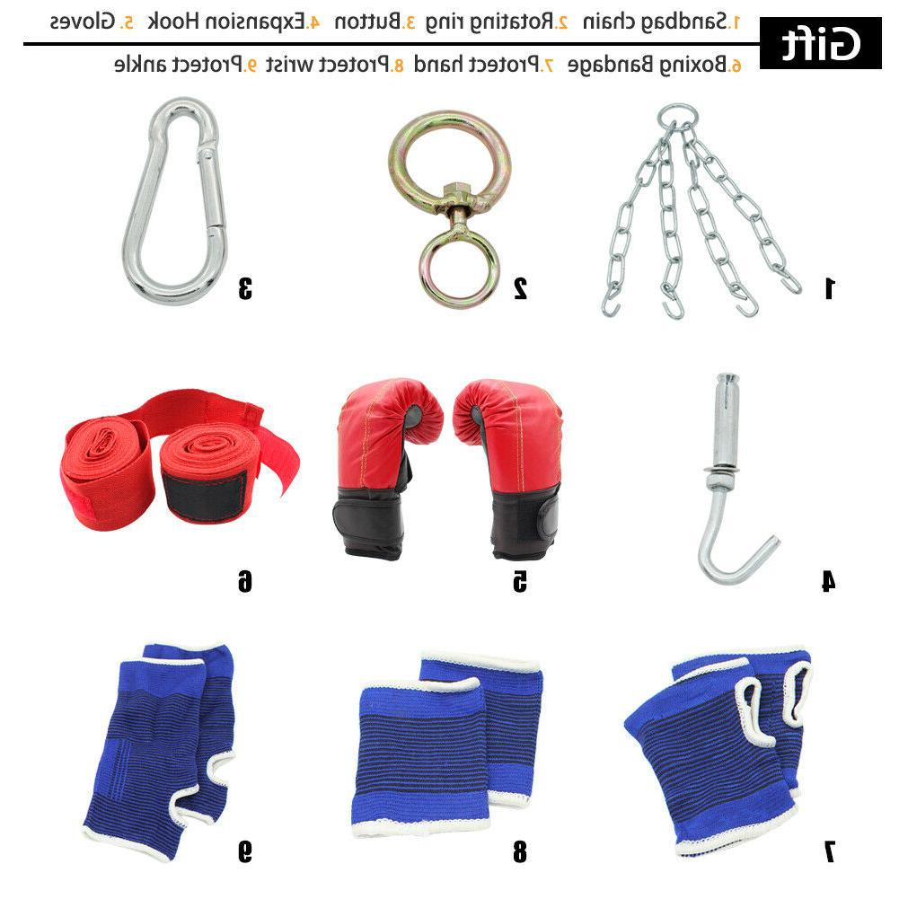Heavy Training Gloves Kicking Workout Chain Empty
