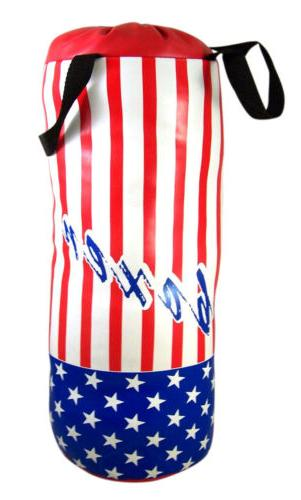 USA Flag with Toddler Lightweight Boxing Bag and Gloves 23 Inch