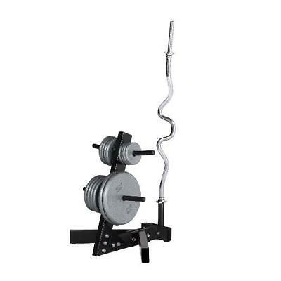 weight plate stand black