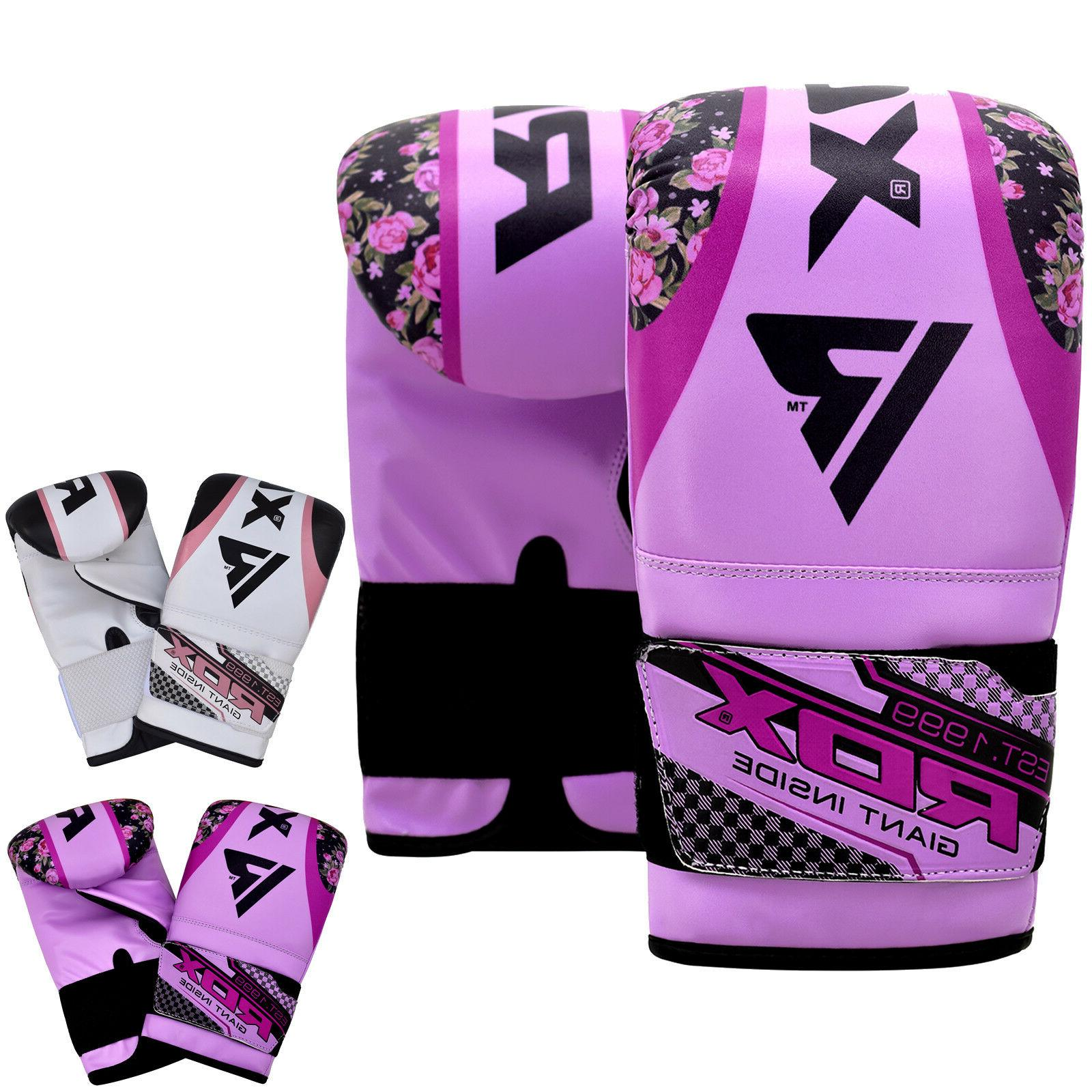 woman boxing bag gloves mma sparring muay