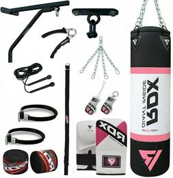RDX Ladies Punching Bag 4FT Chains MMA Boxing Punch Set FILL