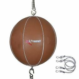 TurnerMAX Leather Double Ended Speed Punching Bag Boxing Pun