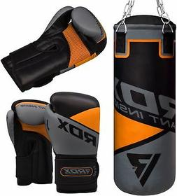 RDX Punching Bag Boxing Gloves Set Training kids MMA Kick Sw
