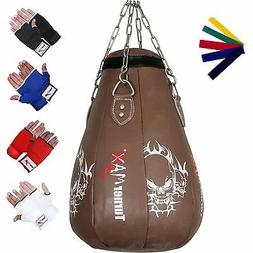 maize bag pear shape leather punch bags