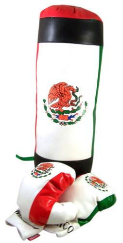 Mexican Flag Design Toddler Size Lightweight Boxing Bag and