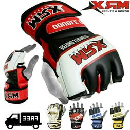 MMA Gloves Grappling Punching Bag Training Boxing Martial Ar