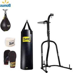 NEW Everlast Dual Station Heavy Bag Stand 100 lb Punching Ba