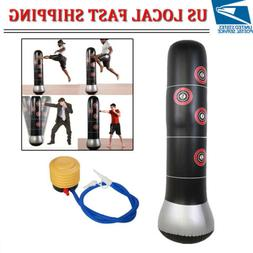 New Inflatable Boxing Punching Bag Stand MMA Kick Martial Tr