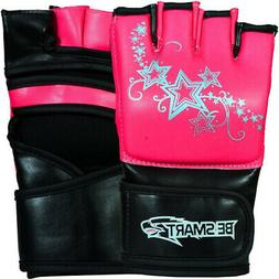 pink l mma grappling gloves ladies boxing