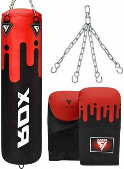RDX Punching Bag UNFILLED Set Kick Boxing Heavy MMA Training