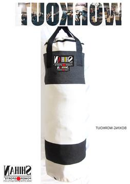 Shihan Boxing Kickboxing Martial Arts 3ft Punch Bag WHITE CA