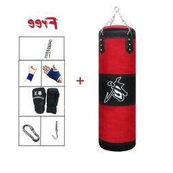 Training Fitness MMA Boxing Punching Bag With Hanger Empty S