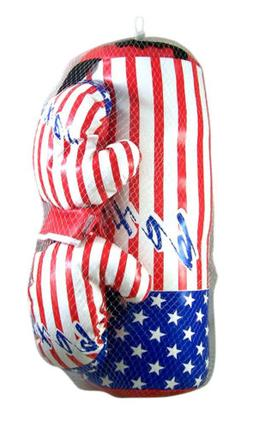 USA Flag with Boxer Toddler Size Lightweight Boxing Bag and